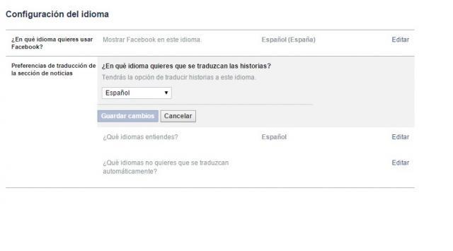 Facebook al catalán.
