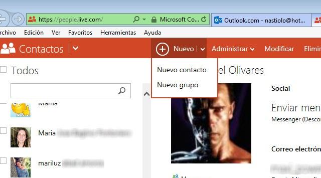 grupos en Hotmail