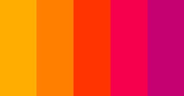 los colores cálidos