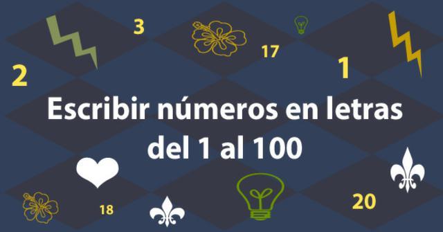 los números del 1 al 100