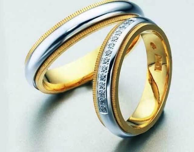 oro blanco y oro amarillo