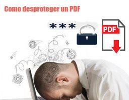 desproteger un pdf