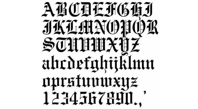 letras góticas