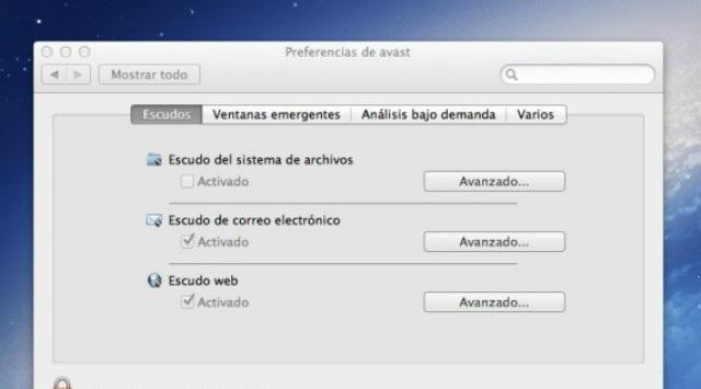Avast en Mac