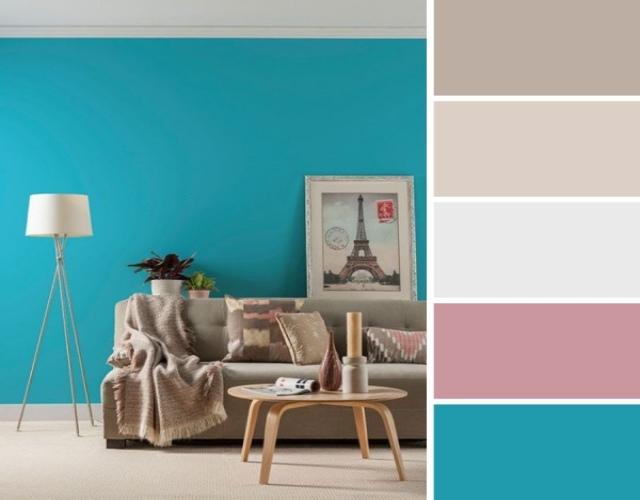 usar color turquesa en paredes