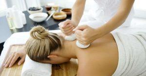 un masaje ayurvedico