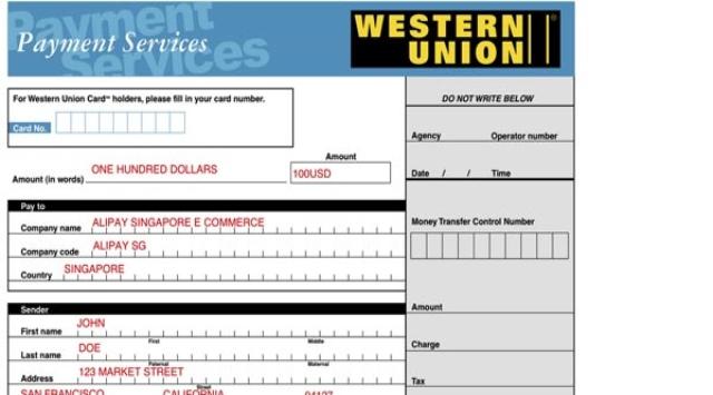 Hacer un pago Western Union en España