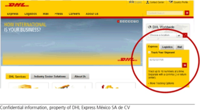 seguimiento paquete DHL