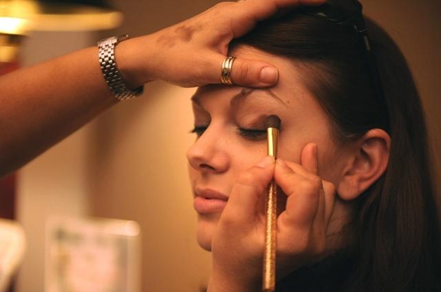 maquillaje de ojos marrones