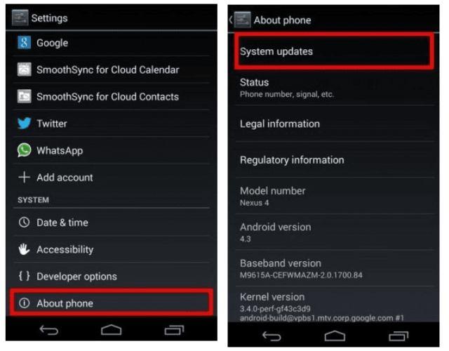 Cómo actualizar android en la tablet