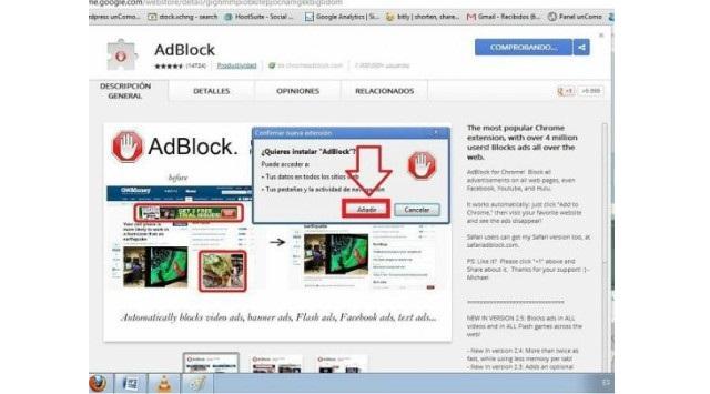 bloquear la publicidad con AdBlock
