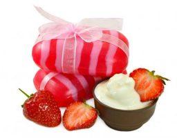 jabón olor de fresa