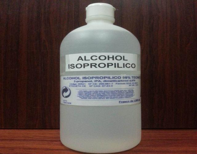 cómo usar alcohol isopropílico