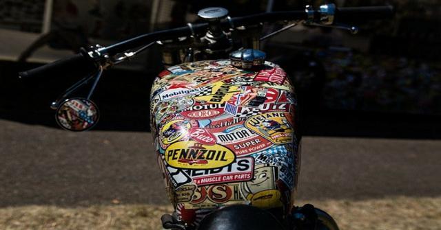 las pegatinas de una moto