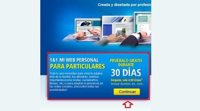 página web con 1&1