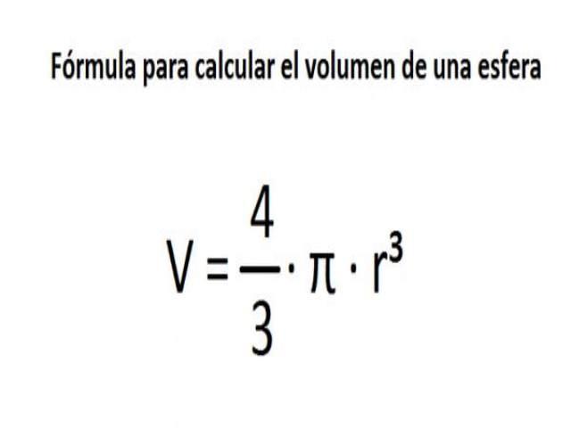 Cómo se calcula el volumen de una esfera
