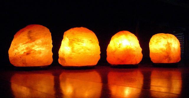 una lámpara de sal
