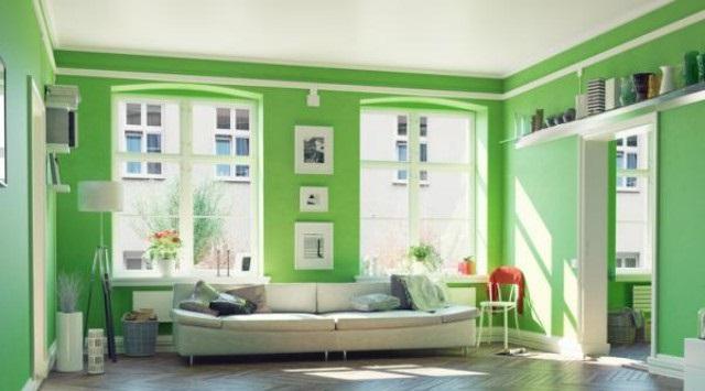 color verde en paredes