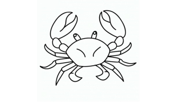 dibujar un cangrejo