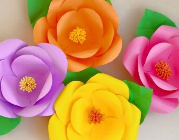 Cómo hacer flores de papel con cartulina