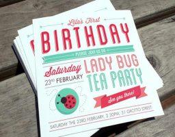 invitación de cumpleaños en Word