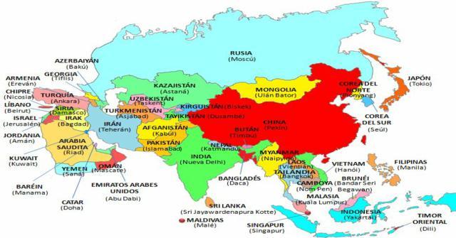 paises de asia y capitales