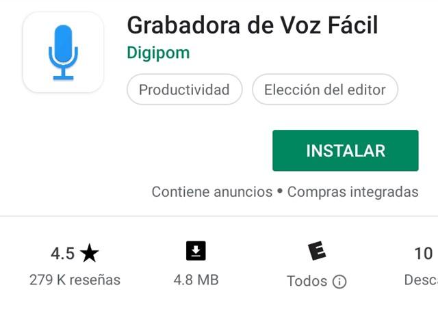 grabar la voz en Android