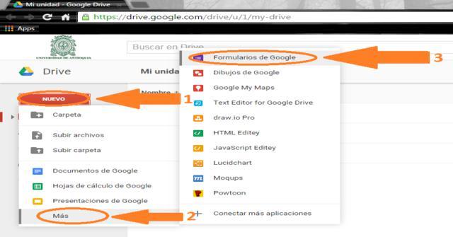 formulario con Google Drive