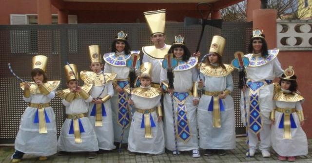 disfraz de egipcio casero
