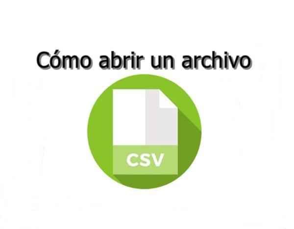 Cómo abrir un archivo .csv
