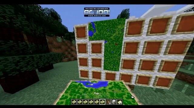 mapa en Minecraft