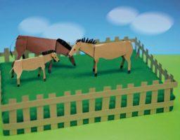 carreras de caballos de cartón