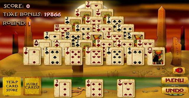 jugar al Solitario Pirámide