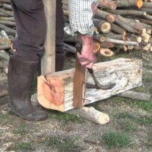 cortar leña