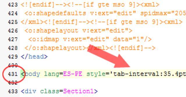 convertir una word en HTML