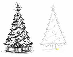 dibujar un árbol de navidad