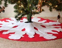 pie para el árbol de Navidad
