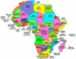 países y capitales de África
