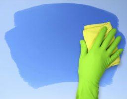 limpiar la pared sucia