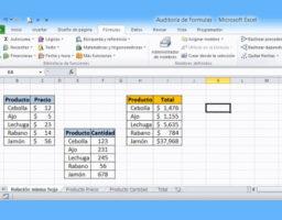 fórmulas del Excel