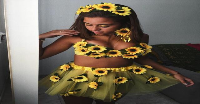 disfraz de flor