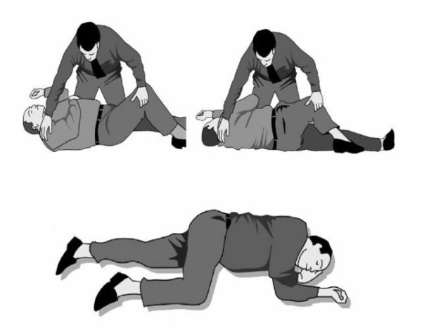 posición de seguridad a una persona