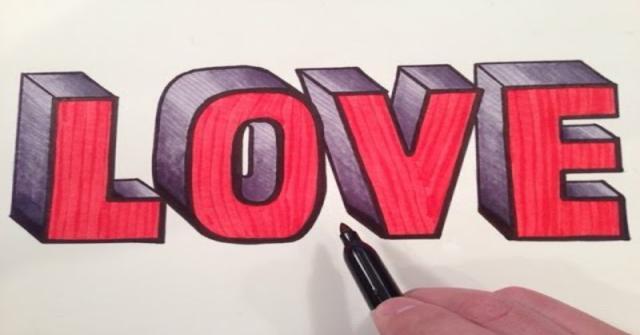 dibujar letras 3D