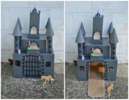 hacer un castillo de cartón
