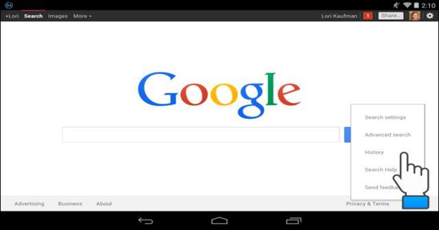 borrar el historial de google