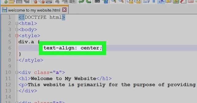 centrar un texto en HTML