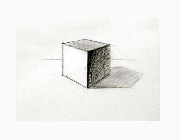 dibujar un cubo en 3D