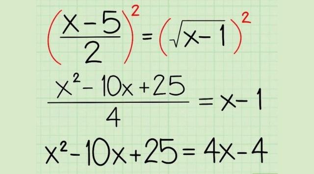 resolver ecuaciones radicales