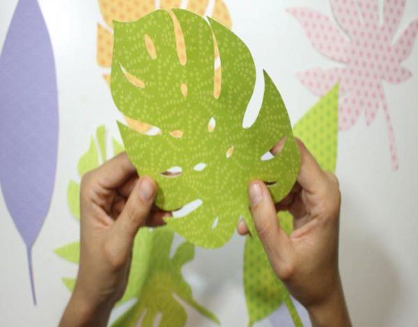 decorar con láminas de papel